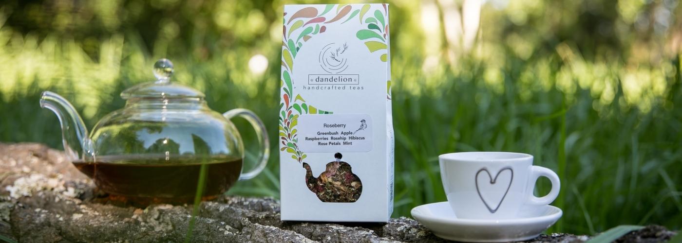 Heart cup teapot tea